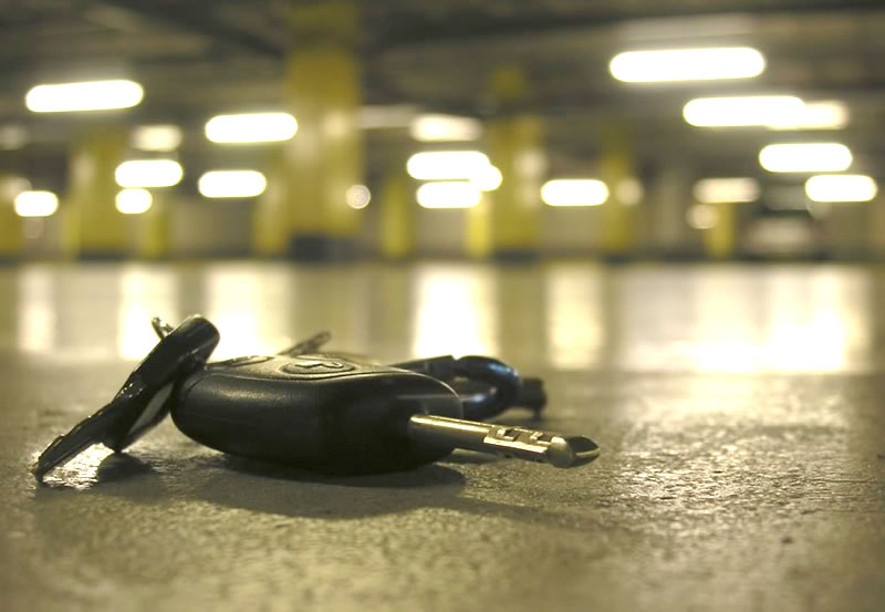 Car Keys lost in a car park